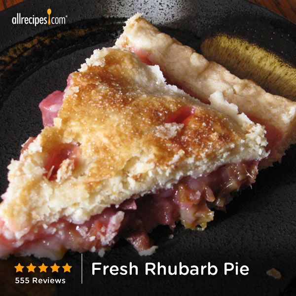 "Fresh Rhubarb Pie | ""This is the best pie that I've ever tasted. I used purchased refrigerated pie crust. Most pies and desserts here in the south are simply too sweet but this pie is perfect...just sweet enough and allows the flavor of the rhubarb to shine. Thank you for this wonderful recipe."""