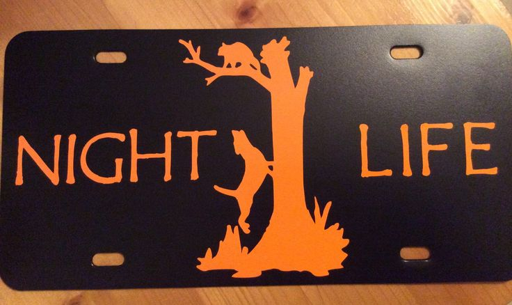 Coon Hunting License Plate by BarkIt on Etsy https://www.etsy.com/listing/236993387/coon-hunting-license-plate