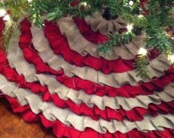 Extra Large Christmas Tree Skirt All By SouthHouseBoutique