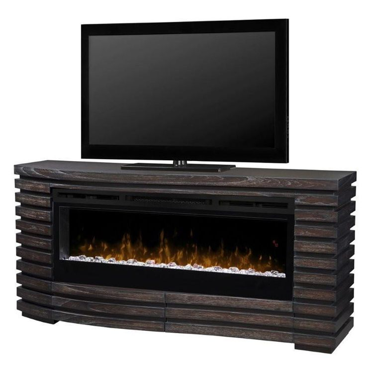 "Dimplex Elliot 73"" Hawthorn Brown Media Console with Electric Fireplace for 80"" TV, UL Listed (GDS50G5-1587HT)"