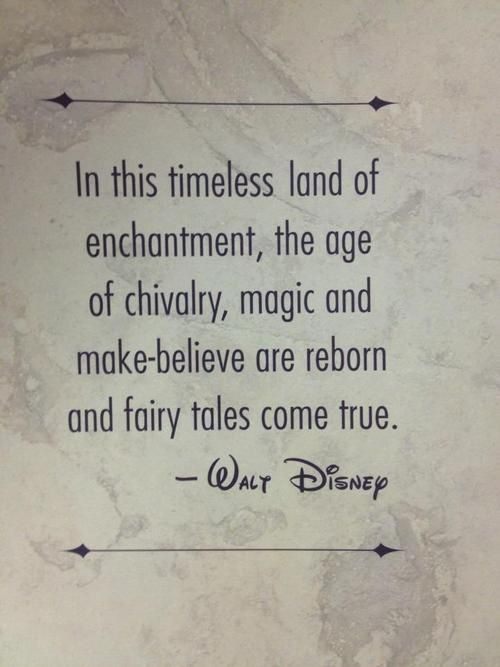 Disney Quotes and it looks like to me it's on some kind of marble floor probably at Disney land
