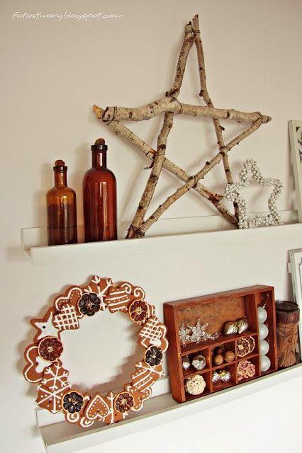 Christmas, scandinavian style, wooden star, home decor