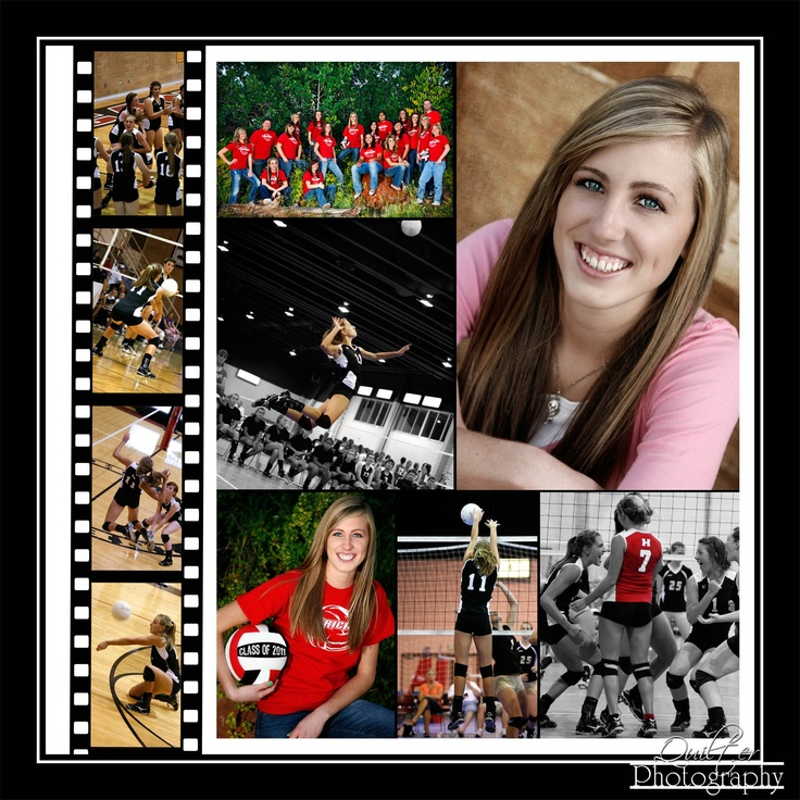 Creative and you can get 9 pictures on one page!!!: Senior Picture, Movie Reel, Scrapbook Layouts, Senior Year, Layouts Scrapbooking, Senior Scrapbook Ideas, Volleyball Scrapbook, Ideas Volleyball, Scrapbooking Ideas For Teens