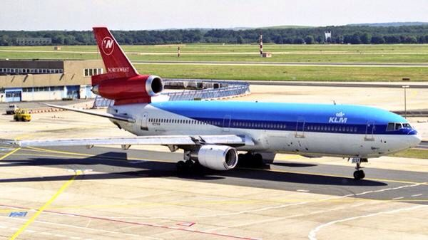 "Northwest Airlines McDonnell-Douglas DC-10-30 in ""NWA/KLM Airline Alliance"" livery"
