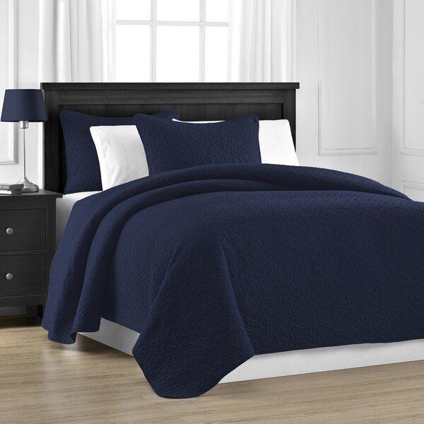 Paylor 3 Piece Reversible Coverlet Set Blue Bedding Sets Navy Blue Bedding Blue Bedding
