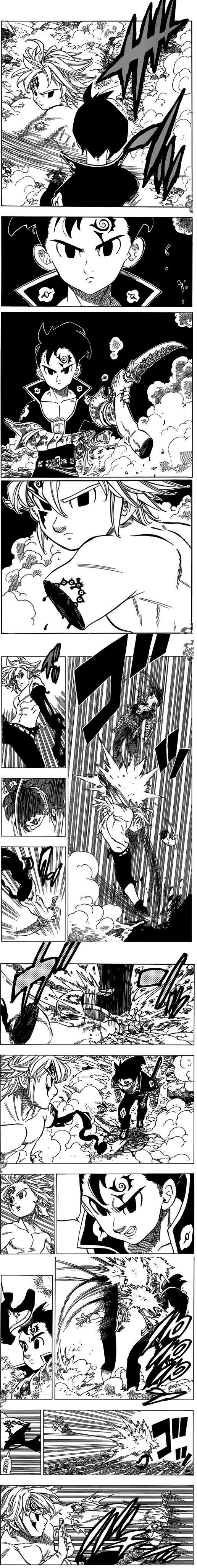 Nanatsu no Taizai manga 174 | Meliodas VS Zeldris (Zeldoris).