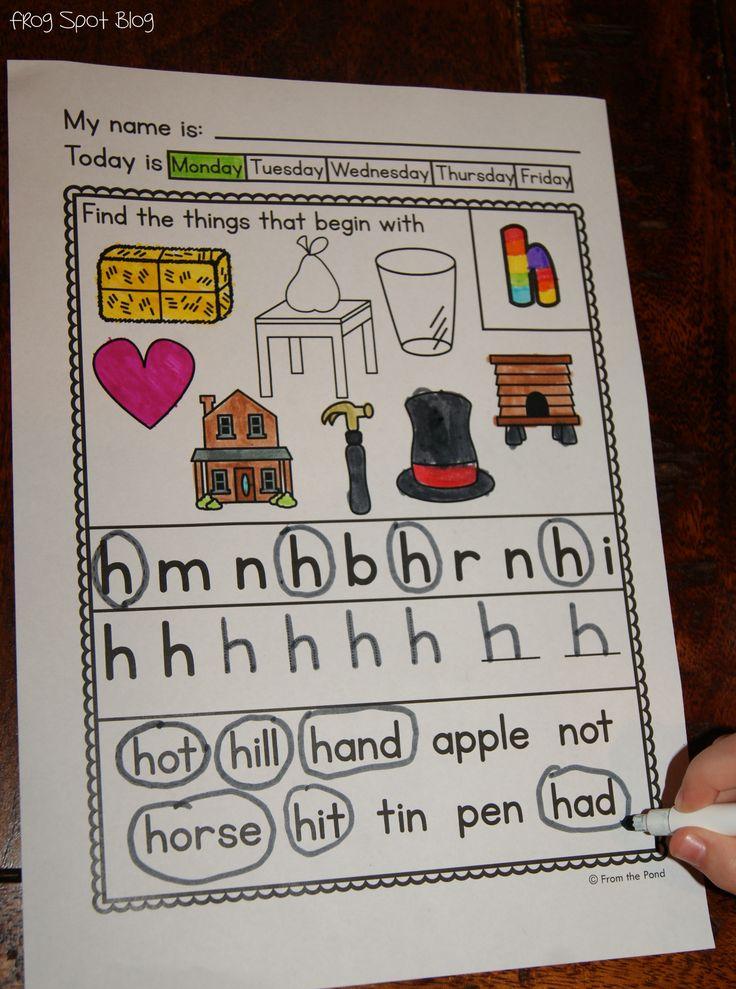 Alphabet Worksheets $: Abc, So Kindergarten, Kindergarten Literacy ...