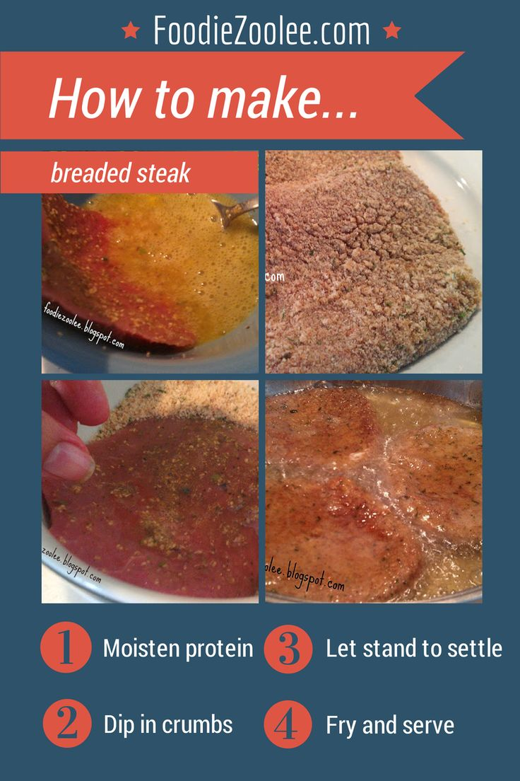 How to make breaded steak by FoodieZoolee