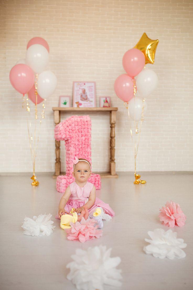 фотозона, детский праздник, день рождения, маленькая принцесса, объемная цифра, день рождения принцессы, годовасие, photozone, one year, birthday princess, pink