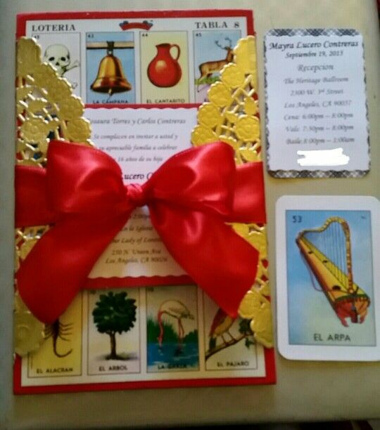 My Creation! Mexican Theme Invitations. My daughters Sweet 16 party invitations.