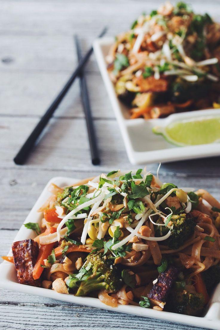 #vegan pad thai - use dates instead of tamarind paste! | RECIPE on hotforfoodblog.com