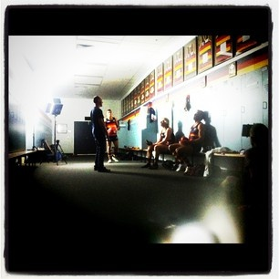 Lights, camera, action ... final shooting for the 2012 Crows ad