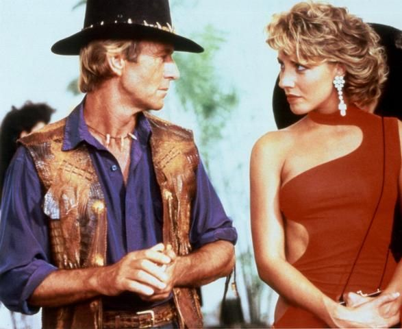 Crocodile Dundee --- lol I don't even really like this movie, but man, that ending. xD It's a classic. <3