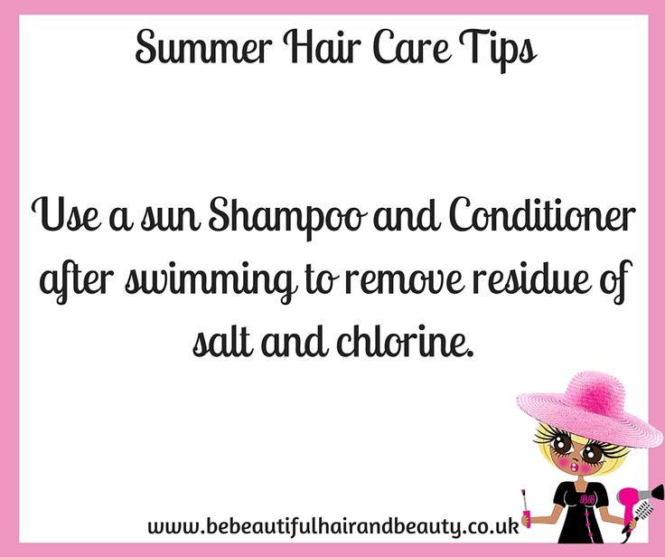 Summer Hair Care Tip #8