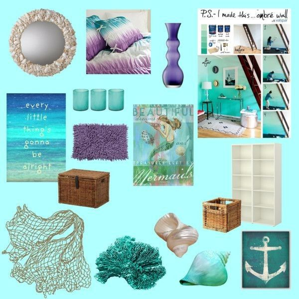 Sally Lee by the Sea | Inspiration: Mermaid Bedroom Decor! | http://nauticalcottageblog.com