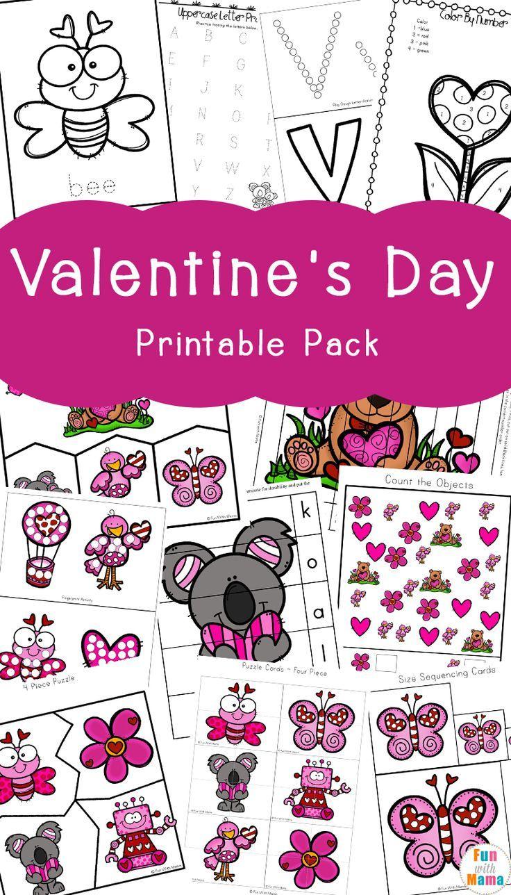 Valentine S Day Printables Pack Fun With Mama Kindergarten Valentines Valentine Gifts For Kids Preschool Valentines Activities [ 1288 x 736 Pixel ]
