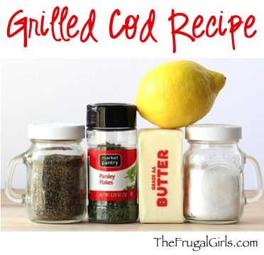 Easy Grilled Cod Recipe! ~ from TheFrugalGirls.com ~ the lemon butter flavor on this cod is crazy delicious! You'll love this simple and delicious way how to grill fish!!