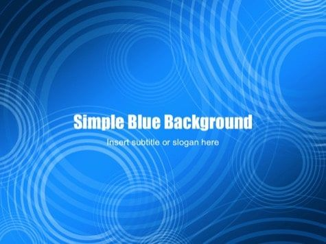 Simple Blue Background For Powerpoint Blue Powerpoint Templates