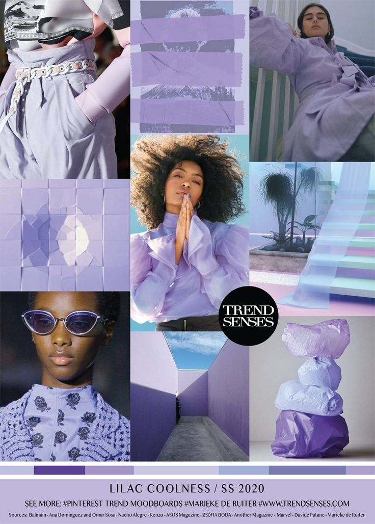 MOODBOARD - LILAC COOLNESS - SPRING /SUMMER 2020