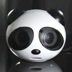 PANDA 2 Piece Portable Mini USB 2.0 Channel Multimedia Speakers for Computer/PC/Laptop/MP3/MP4/DVD/Hi-Fi/ apple Macbook pro + Cosmos Cable Tie