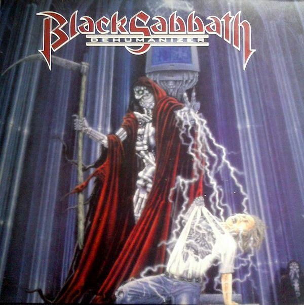 """Black Sabbath – Dehumanizer  Décimo sexto álbum de estúdio da banda inglesa Black Sabbath lançado em 1992. Este trabalho volta a contar com Ronnie James Dio nos vocais, Vinny Appice na bateria e Geezer Butler no baixo. Os destaques, segundo alguns, são """"Computer God"""", """"After All (the Dead)"""", """"Master of Insanity"""" e """"I""""."""
