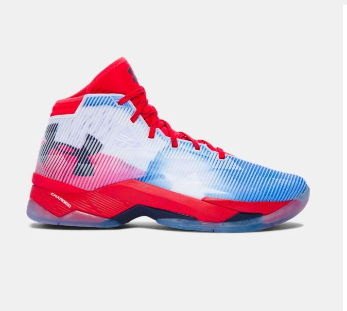 UA Curry 2.5 Elite Gradient Red Blue White Basketball Shoes