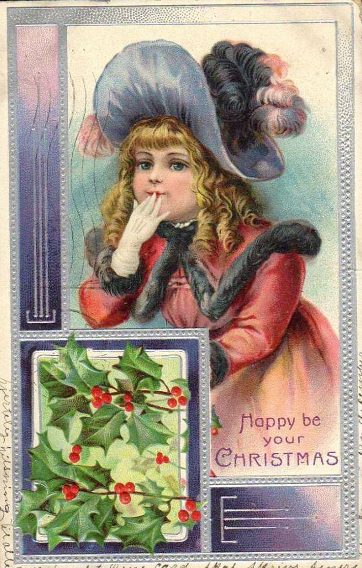 Старинные Рождественские и новогодние открытки.
