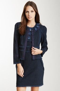 Tweed Wool Blend Jacket