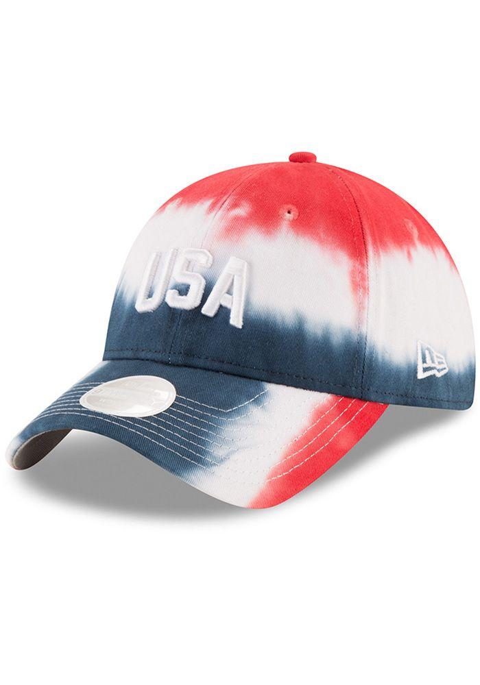 8787db23c3fe2 New Era USA Team Spirit 9TWENTY Womens Adjustable Hat - Image 1