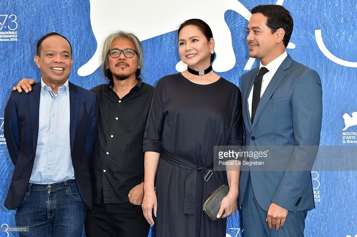 Producer Ronald Arguelles, director Lav Diaz, actress Charo Santos-Concio and…