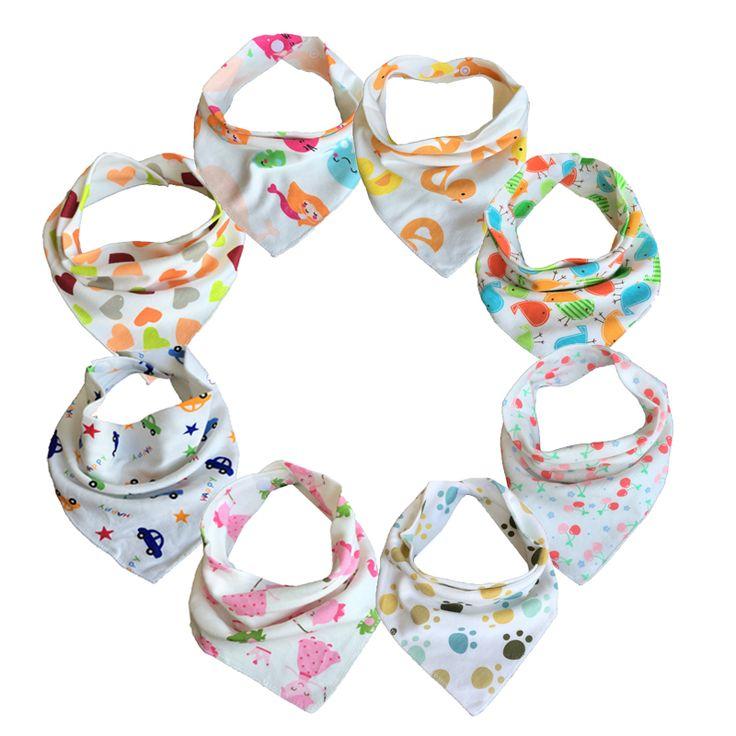 จัดส่งฟรี10ชิ้น/ล็อตBibsทารกผ้าฝ้าย100%สามเหลี่ยมหัวผ้าพันคอเด็กผ้าเช็ดหน้าสาวB Abador B Andanaเลี้ยงลูกเอี๊ยม