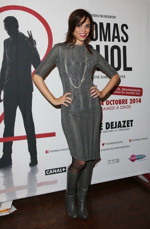 Melissa Mars au spectacle de Thomas Ngijol à Paris le 27 octobre 2014