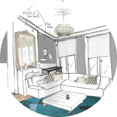 1000 id es propos de croquis d 39 int rieur sur pinterest rendu int rieur croquis de design d. Black Bedroom Furniture Sets. Home Design Ideas
