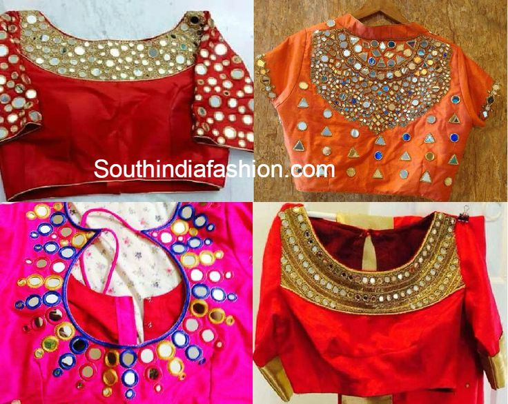 Best 25  Mirror work blouse ideas that you will like on Pinterest ...