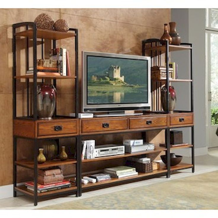 55 Cool Farmhouse Living Room Entertainment Center Ideas