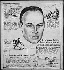 Charles R. Drew, a black man, was the Dr. who pioneered blood transfusions.  Ronsel mentions that the black and white soldiers even had separate blood banks.  - Wikipedia, the free encyclopedia