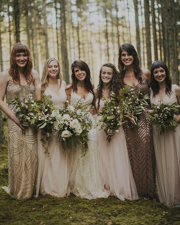 Mismatched Bridesmaid Dresses We Love Pinterest Wedding And Destination