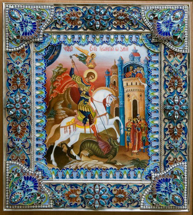 Святой Георгий Победоносец купить, икона георгий Победоносец, икона святого…