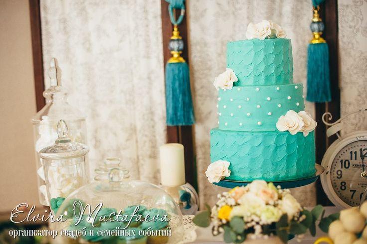 торт цвет морской волны wedding кенди бар сладости сладкий стол свадьба свадебный торт