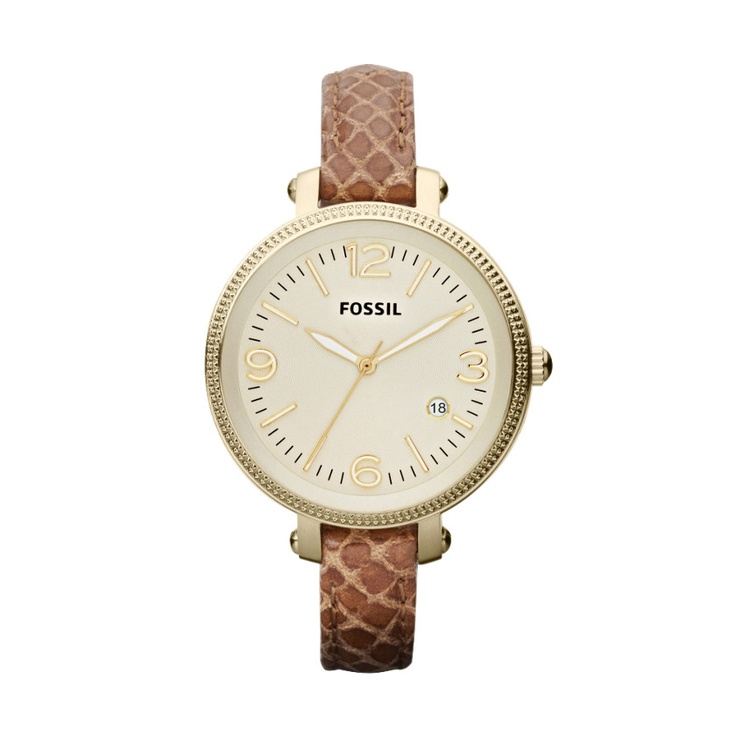 FOSSIL® Watch Styles Leather Watches:Women Heather Mid-Size Leather Watch – Light Brown ES3183
