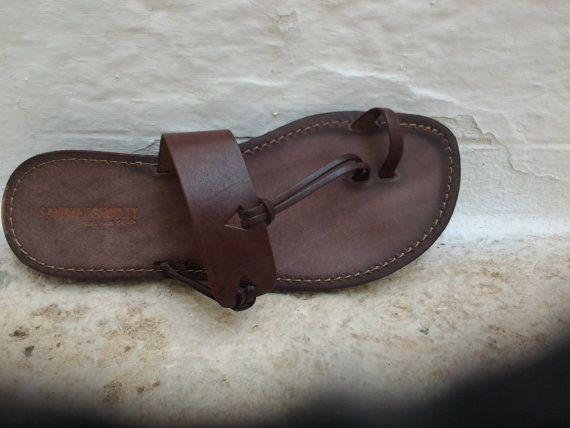 SALE 5 Dollar Off / Men Leather sandals Flip Flops by SandaliShop