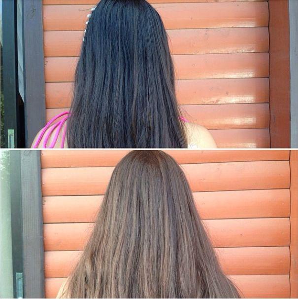 Como aclarar el pelo de forma natural con el sol Resultado Ritzy Mash