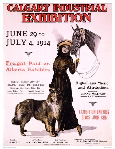 Calgary Industrial Exhibition 1914 #Vintage #posters