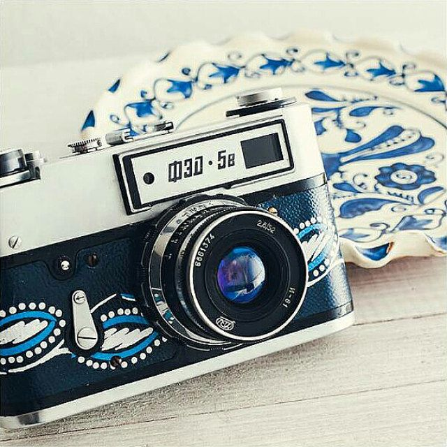 Fed 5B - Functional Vintage Cameras with Folk Patterned by FolkCamera - Zorki 4