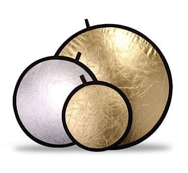 Collapsible Reflector Disc Gold/Silver 60cm