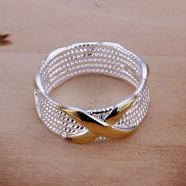 925 Silver Plated Unisex Charm Gold X Finger Ring  for $20.00 #https://www.ioffer.com/i/925-silver-plated-unisex-charm-gold-x-finger-ring-592668605#