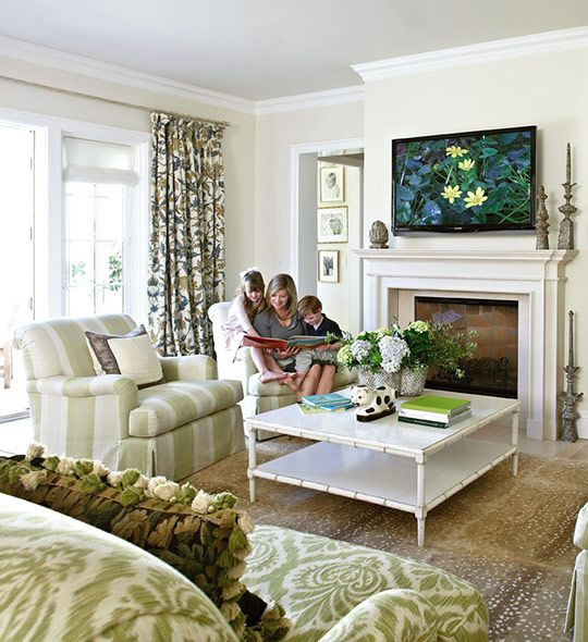 This Living Room Is Comfy Enough For Family Playtime, But Elegant Enough  For Formal Entertaining   Traditional Home® / Photo: Werner Straube /  Design: ...