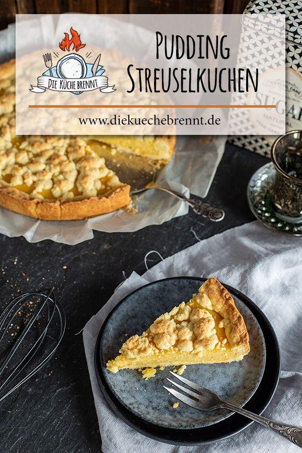 Einfaches Pudding Kuchen Rezept Mit Streuseln Vom Blech Rezept Pudding Kuchen Rezepte Kuchen