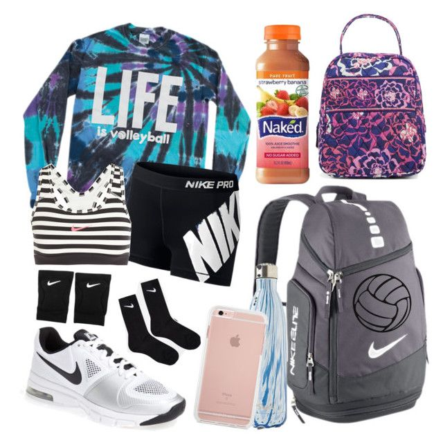 """""""Volleyball camp """" by jadenriley21 ❤ liked on Polyvore featuring NIKE, S'well and Vera Bradley"""