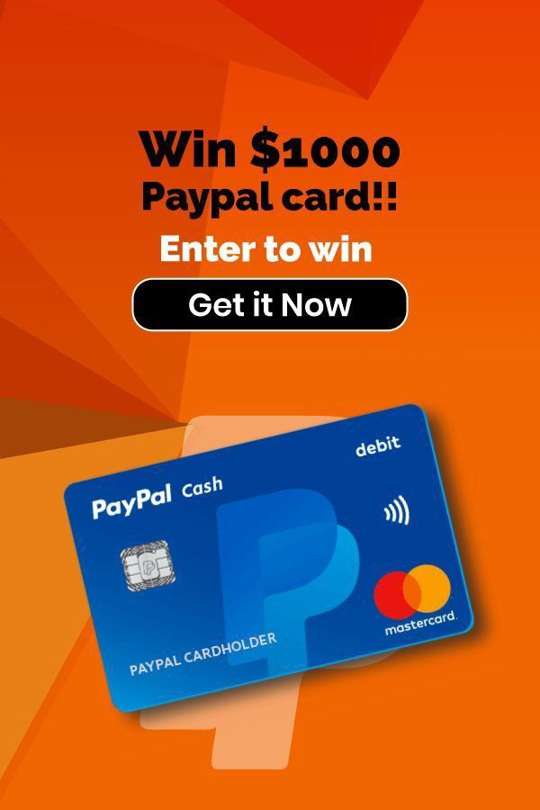 Win Paypal Gift Card Giveaway Get Gift Cards Paypal Gift Card Gift Card Deals
